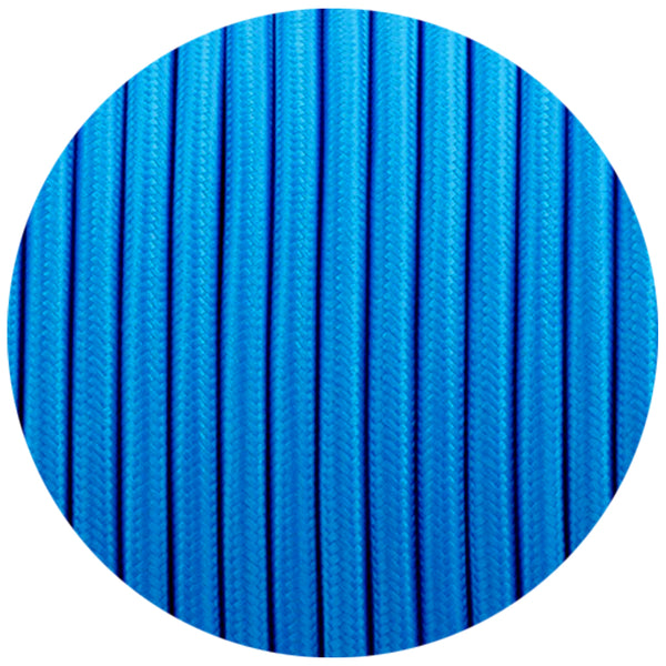 2 Core Round Vintage Italian Braided Fabric Blue Cable Flex 0.75mm UK - Shop for LED lights - Transformers - Lampshades - Holders | LEDSone UK