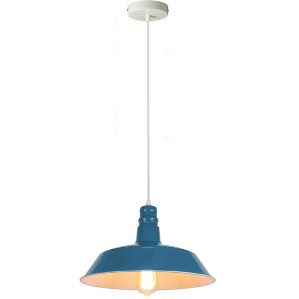 Blue Pendant Light Lampshade Ceiling Light Shade With Bulb