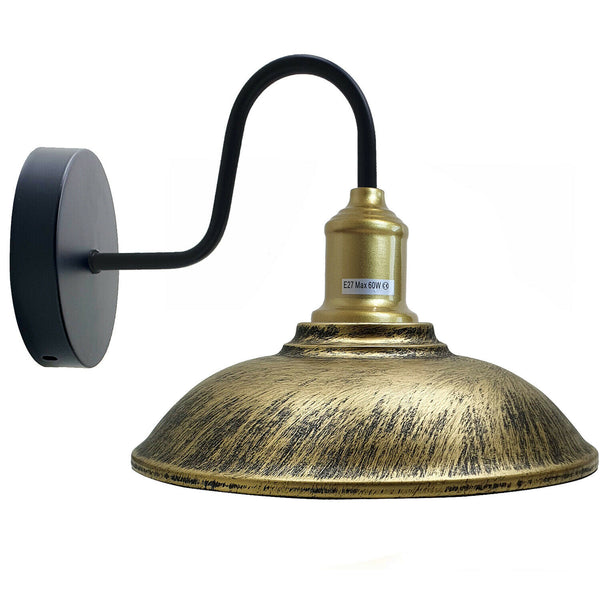 Bowl Shape Modern Vintage Retro Rustic Sconce Wall Light Lamp Fitting Fixture