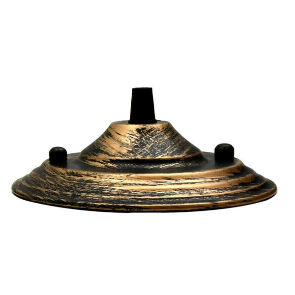 Brushed Copper Color 140mm Ceiling Rose Pendant Cable Grip Flex Plate For Light Fitting
