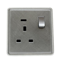 Brushed Chrome Screwless Light Switches & Socket