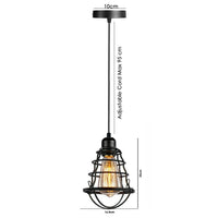 Ceiling Pendant Light Retro Industrial Metal Bird Cage Light Fitting Kit
