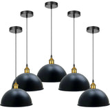 40cm Black Metal Dome Pendant Light