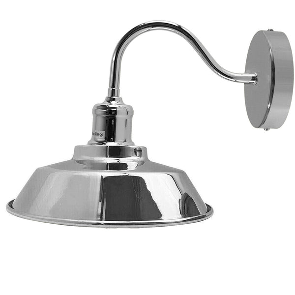 Chrome Wall Lights Sconces For Indoors Industrial Wall Mounted Light