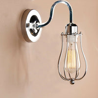 Chrome balloon cage Wall Set with Free Bulb