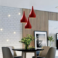 Colour Shade Chandelier Pendant Ceiling Light Red