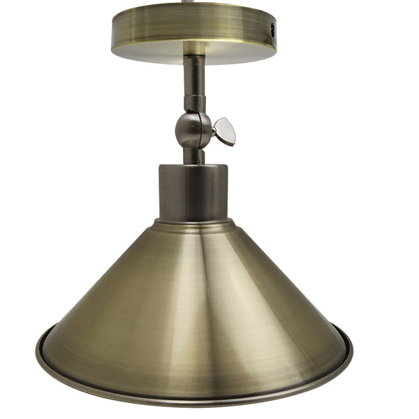 Cone Lampshade adjustable ceiling light