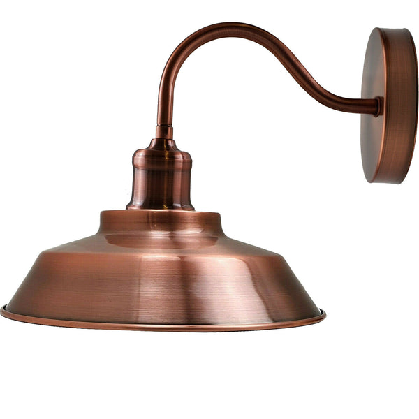 Copper Indoor Industrial Wall Light Modern Wall Sconce Fittings E27 Socket