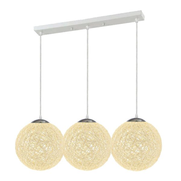 Cream Style Rattan Wicker Ceiling Pendant Lampshade Hanging Decoration Lamp