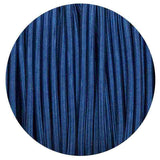 0.75mm 2 core Round Vintage Braided  Dark Blue Fabric Covered Light Flex - Shop for LED lights - Transformers - Lampshades - Holders | LEDSone UK