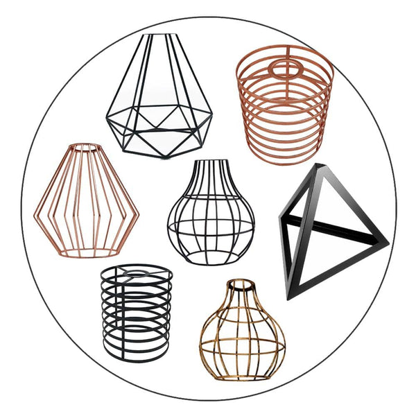 Easy Fit Pendant Light Shade Metal Cage Drum Lampshade Pendant Lamp / Ceiling