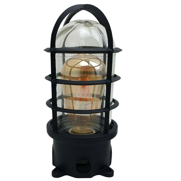 Wall Light Bulkhead Metal Marine Glass Nautical Light Cage