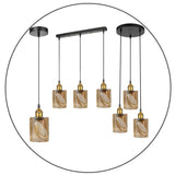 Vintage Industrial Retro Pendant Light Suspended Ceiling Lights Style Glass Lamp Shade