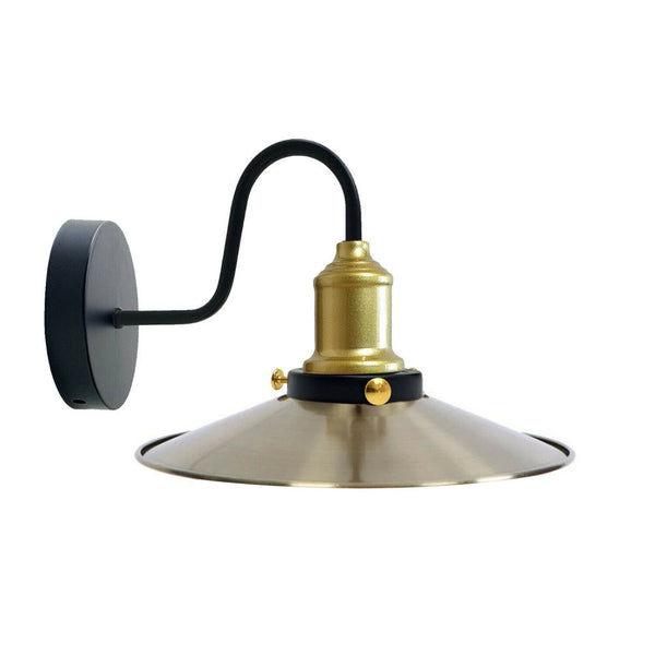 Green Brass Wall Light Lampshade Modern Industrial Wall Lamp
