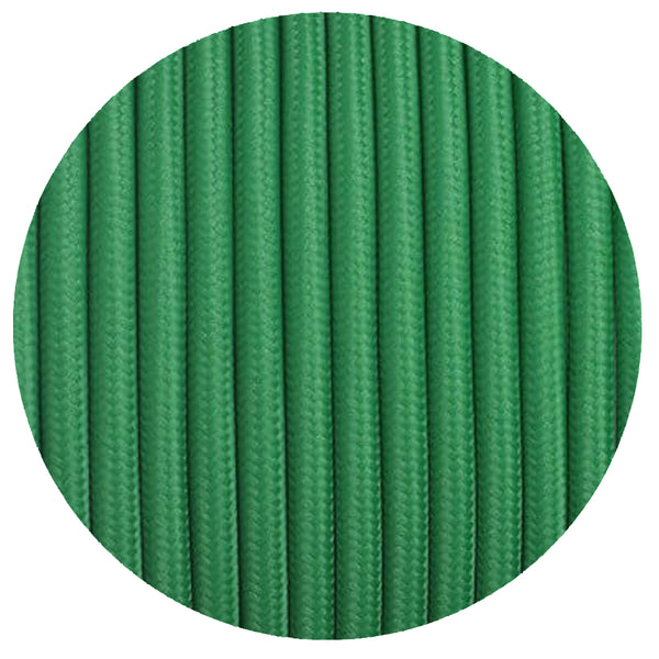 3 core Round Vintage Braided Fabric  Green Cable Flex 0.75mm - Shop for LED lights - Transformers - Lampshades - Holders | LEDSone UK