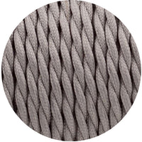2 Core Twisted Electric Cable Grey color fabric 0.75mm - Shop for LED lights - Transformers - Lampshades - Holders | LEDSone UK