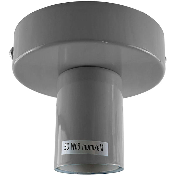 Grey Flush Mount Ceiling Light Fitting