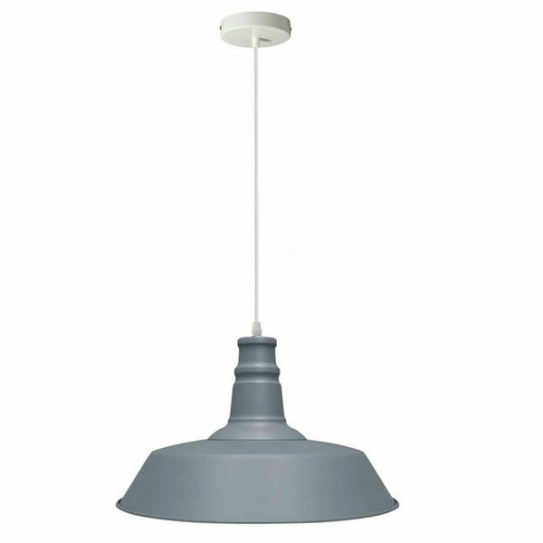 Grey Pendant Light Lampshade Ceiling Light Shade With Bulb