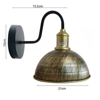 Half Round Shape Modern Vintage Retro Rustic Sconce Wall Light Lamp Fitting Fixture