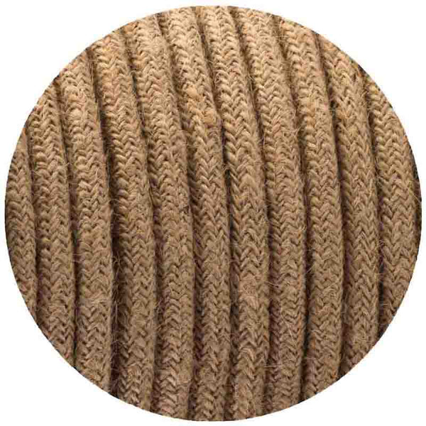 0.75mm 2 core Round Vintage Braided Hemp Fabric Covered Light Flex - Shop for LED lights - Transformers - Lampshades - Holders | LEDSone UK