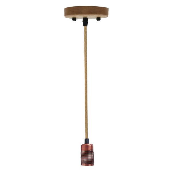 Hemp Pendant Light With E27 Copper Holder