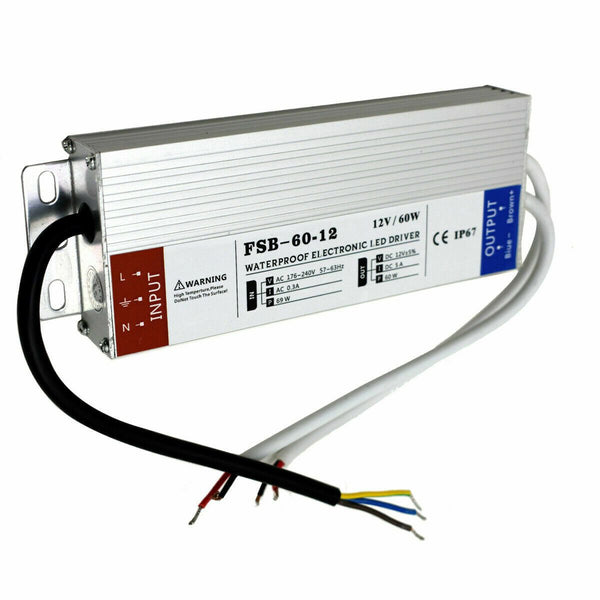 60W LED driver switch power supply transformer IP67 Ultra Slim