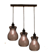 Industrial Modern Vintage Triple Ceiling Pendant Lights Fittings Cluster Chandelier Lampshade