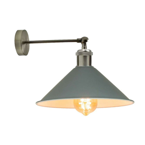 Industrial Grey Colour Wall Lamp Retro Light Vintage Wall Sconce Lights