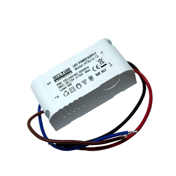 9W Compact LED Driver AC 230V to DC12V Power Supply Transformer - Shop for LED lights - Transformers - Lampshades - Holders | LEDSone UK