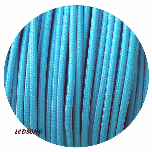 3 Core Round Light Blue Cable