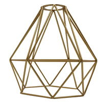 Metal Pendant Gold Light Shade Ceiling Industrial Geometric Wire Cage Lampshade Lamp