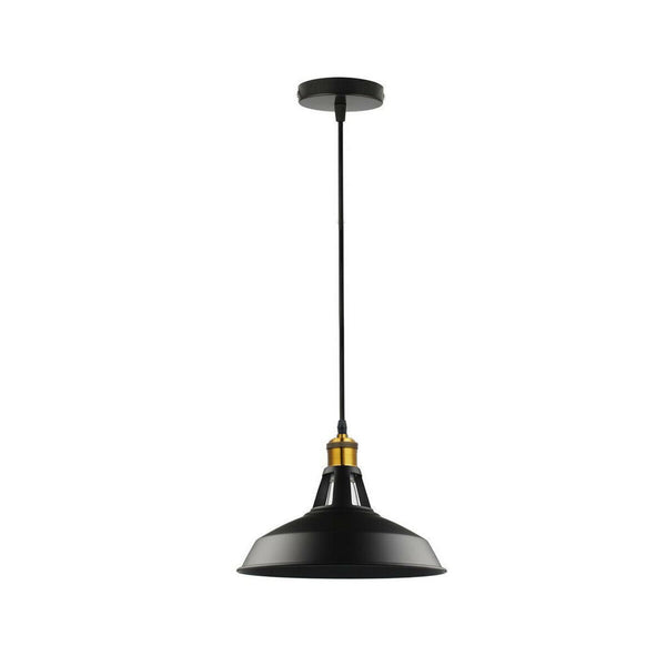 Modern Black Colour Lampshade Industrial Retro Style Metal Ceiling Pendant Lightshade