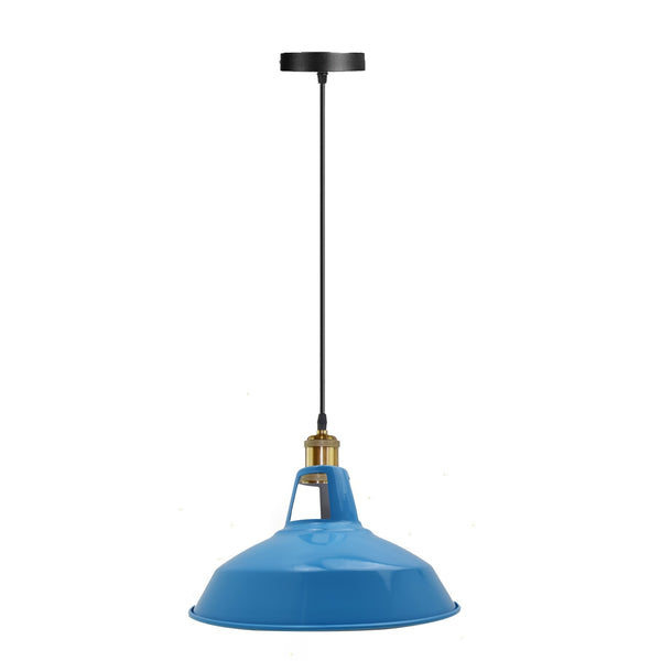 Modern Blue Colour Lampshade Industrial Retro Style Metal Ceiling Pendant Lightshade