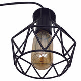 Modern Ceiling 3 Head Pendant Light Fitting Metal Black Cage