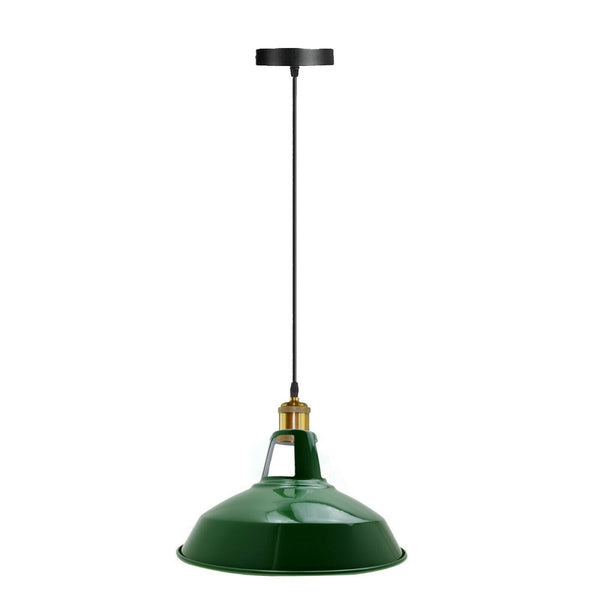 Modern Green Colour Lampshade Industrial Retro Style Metal Ceiling Pendant Lightshade