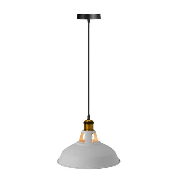 Modern Grey Colour Lampshade Industrial Retro Style Metal Ceiling Pendant Lightshade
