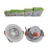 Modern LED Adjustable Tilt Angle Downlight Recessed Round Ceiling Spotlights