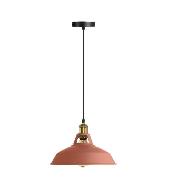 Modern Pink Colour Lampshade Industrial Retro Style Metal Ceiling Pendant Lightshade