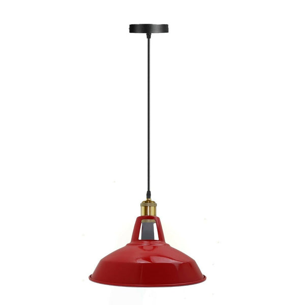 Modern Red Colour Lampshade Industrial Retro Style Metal Ceiling Pendant Lightshade