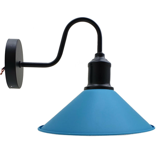 Modern Retro Industrial Blue Color Wall Mounted Lights Rustic Sconce Lamps Fixture