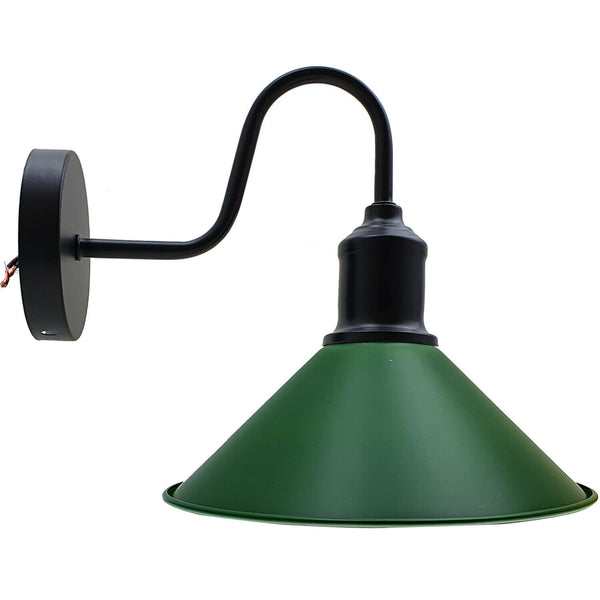 Modern Retro Industrial Green Color Wall Mounted Lights Rustic Sconce Lamps Fixture