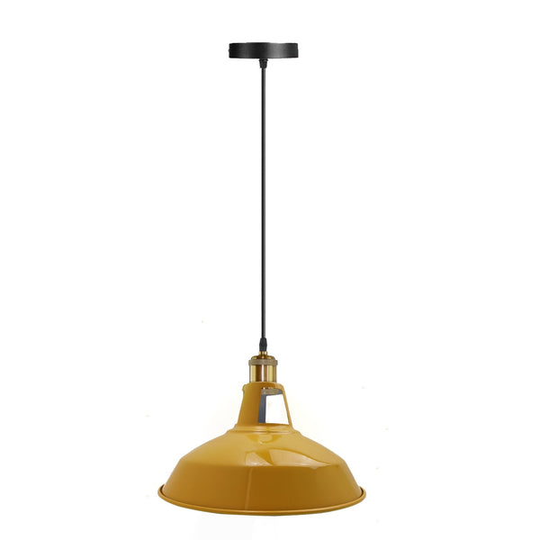 Modern Yellow Colour Lampshade Industrial Retro Style Metal Ceiling Pendant Lightshade