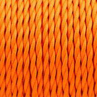 2 Core Twisted Electric Cable Orange colour 5m fabric 0.75mm