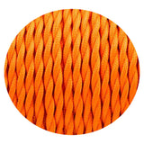2 Core Twisted Electric Cable Orange color fabric 0.75mm - Shop for LED lights - Transformers - Lampshades - Holders | LEDSone UK