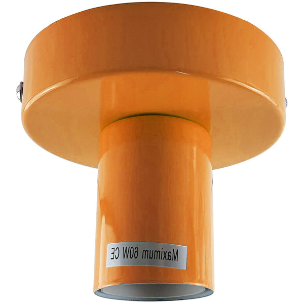 Orange Flush Mount Ceiling Light Fitting