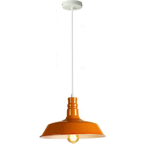 Orange Pendant Light Lampshade Ceiling Light Shade With Bulb