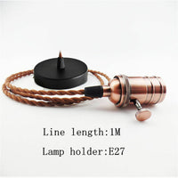 Pendant Light Copper Ceiling Canopy Hanging Switch Electric Bulb Holder Ceiling Lighting Lamp