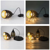 Pendant Cluster Light Fitting Lights Black Cage Style New