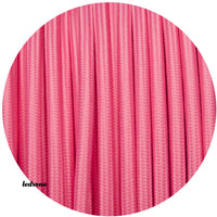 2 core Round Rayon Vintage Braided Fabric Pink Cable Flex 0.75mm - Shop for LED lights - Transformers - Lampshades - Holders | LEDSone UK