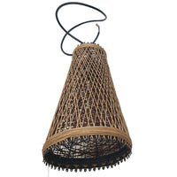Modern Wicker Rattan Basket Style Ceiling Pendant Light Shade